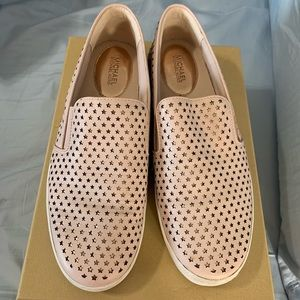 Michael Kors Keaton slip on soft pink shoes